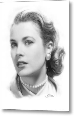 Grace Kelly Pencil Metal Print by Steve K