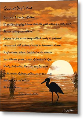 Grace With A Poem Metal Print by Amy Scholten