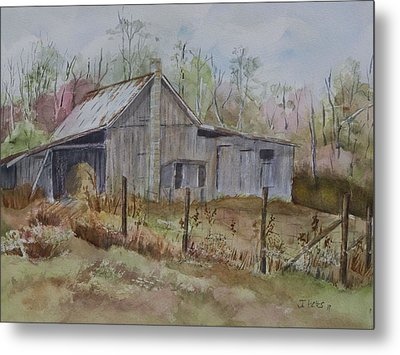 Grady's Barn Metal Print by Janet Felts