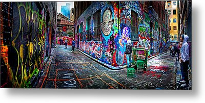 Graffiti Artist Metal Print by Az Jackson