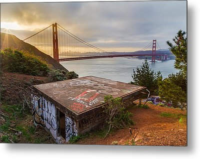 Graffiti By The Golden Gate Bridge Metal Print by Sarit Sotangkur