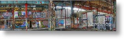 Graffiti Heaven Panorama Metal Print by David Birchall