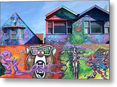 Graffiti House Metal Print by Fraida Gutovich