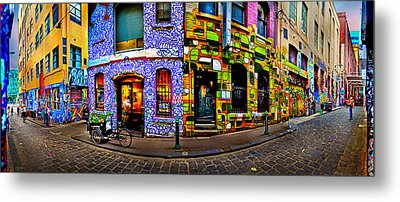 Graffiti Lane   Metal Print by Az Jackson