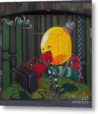 Graffiti Stokes Croft Metal Print by Brian Roscorla