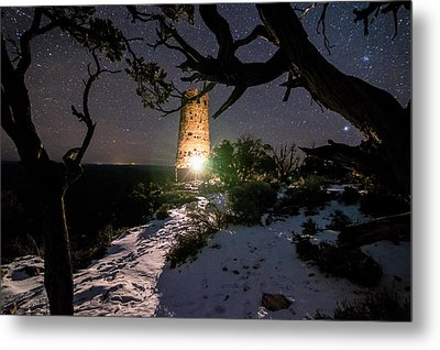 Grand Canyon Watch Tower Metal Print by Michael J Bauer