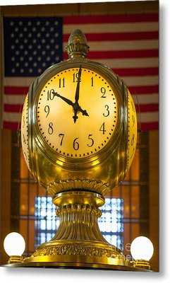 Grand Central Clock Metal Print by Inge Johnsson