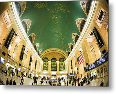 Grand Central Station New York City On Its Centennnial  Metal Print by Diane Diederich