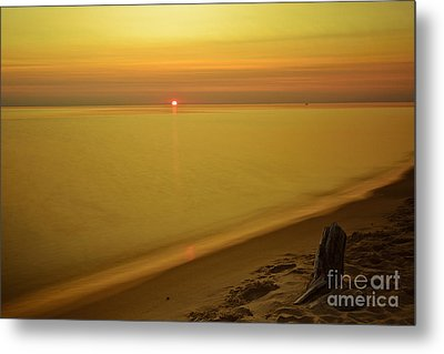 Grand Haven Sunset Metal Print by Will Cardoso