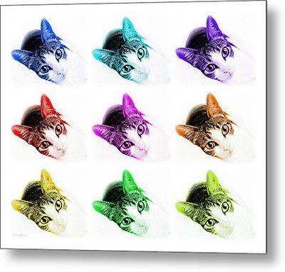 Grand Kitty Cuteness 3 Pop Art 9 Metal Print by Andee Design