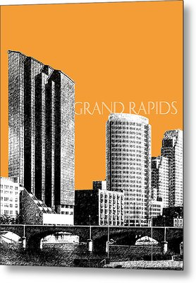 Grand Rapids Skyline - Orange Metal Print by DB Artist