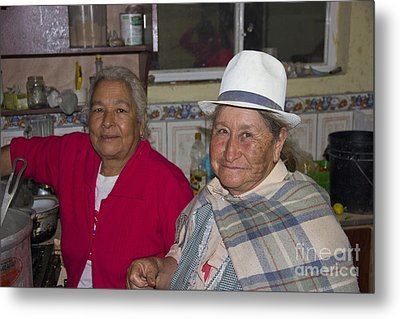 Grandmas At Carnaval Metal Print by Al Bourassa