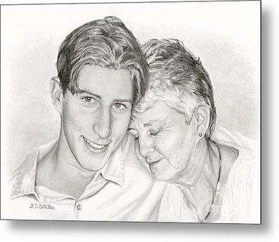 Grandmother And Grandson Metal Print by Sarah Batalka