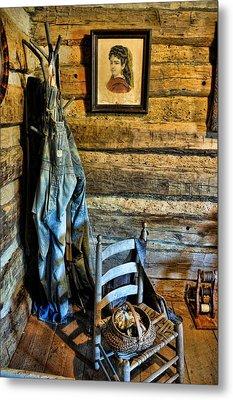 Grandpa's Closet Metal Print by Jan Amiss Photography