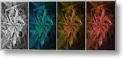 Elements Of Nature - Air Water Earth Fire Metal Print by Marianna Mills
