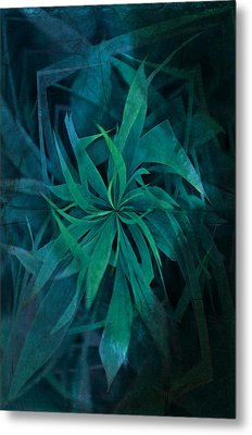 Grass Abstract - Water Metal Print by Marianna Mills
