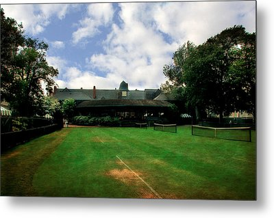 Grass Courts At The Hall Of Fame Metal Print by Michelle Calkins