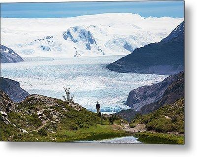 Gray Glacier Metal Print by Peter J. Raymond