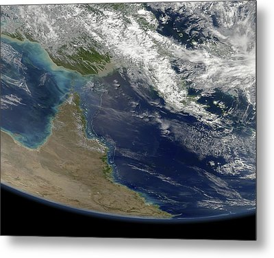 Great Barrier Reef, Satellite Image Metal Print by Science Photo Library