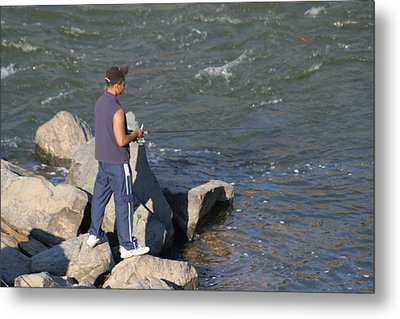 Great Falls Va - 121238 Metal Print by DC Photographer