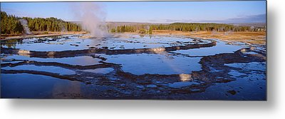 Great Fountain Geyser In The Lower Metal Print by Panoramic Images