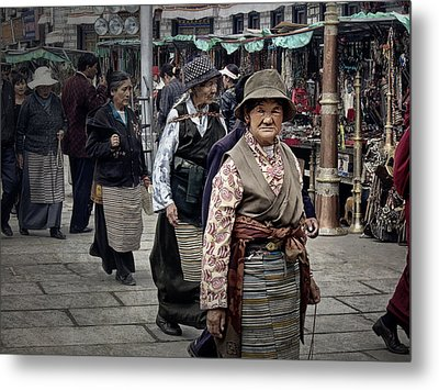 Great Weathered Faces Metal Print by Joan Carroll
