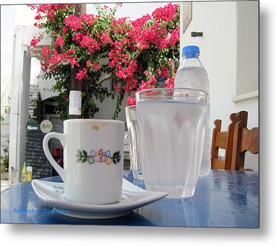 Greek Coffee  Metal Print by Alexandros Daskalakis