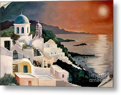 Greek Isles Metal Print by Marilyn Smith
