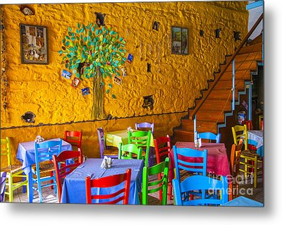 Greek Taverna Metal Print by Eleni Mac Synodinos