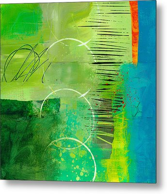 Green And Red 5 Metal Print by Jane Davies