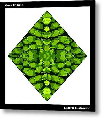 Green Banana Metal Print by Roberto Alamino