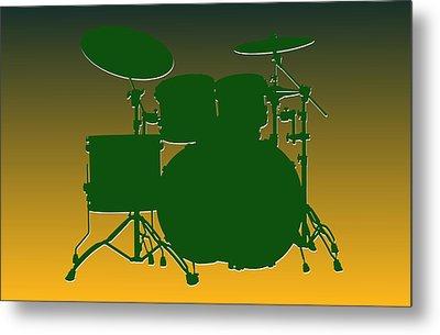 Green Bay Packers Drum Set Metal Print by Joe Hamilton