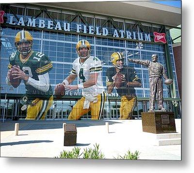 Green Bay Packers Lambeau Field Metal Print by Joe Hamilton