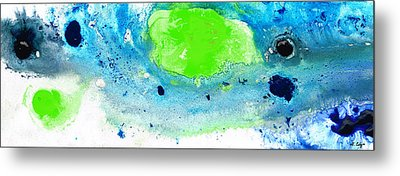 Green Blue Art - Making Waves - By Sharon Cummings Metal Print by Sharon Cummings