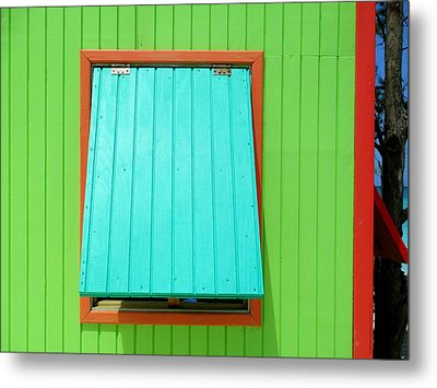 Green Cabin Metal Print by Randall Weidner