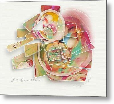Green Eggs And Ham Metal Print by Gayle Odsather