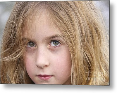 Green Eyes Metal Print by Sean Griffin