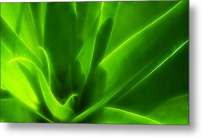 Green Flame Metal Print by Suradej Chuephanich