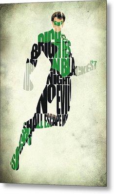 Green Lantern Metal Print by Ayse Deniz