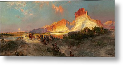 Green River Cliffs Wyoming Metal Print by Thomas Moran
