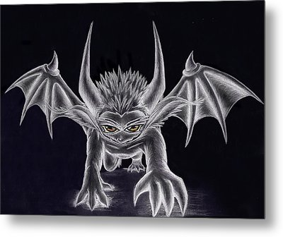 Grevil Silvered Metal Print by Shawn Dall