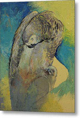 Grey Parrot Metal Print by Michael Creese