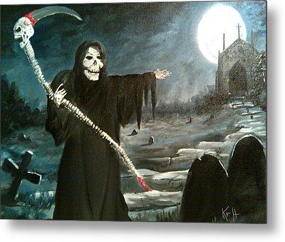 Grim Creeper Metal Print by Kevin F Heuman