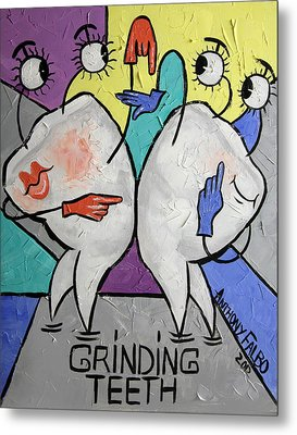 Grinding Teeth Metal Print by Anthony Falbo