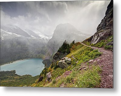 Grinnell Glacier Trail Metal Print by Mark Kiver
