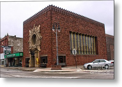 Grinnell Iowa - Louis Sullivan - Jewel Box Bank - 01 Metal Print by Gregory Dyer