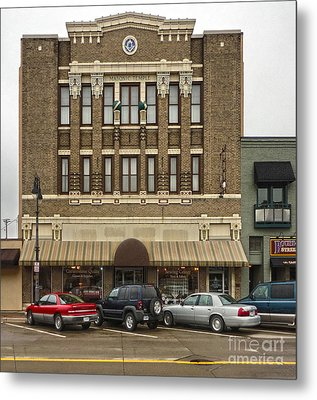 Grinnell Iowa - Masonic Temple -01 Metal Print by Gregory Dyer