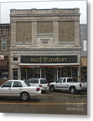 Grinnell Iowa - Odd Fellows Lodge Metal Print by Gregory Dyer