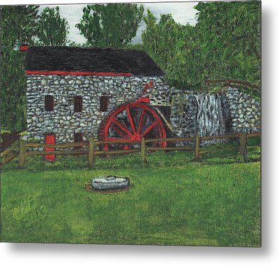 Grist Mill At Wayside Inn Metal Print by Cliff Wilson