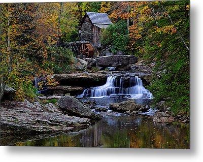 Grist Mill Falls Metal Print by Lone  Dakota Photography